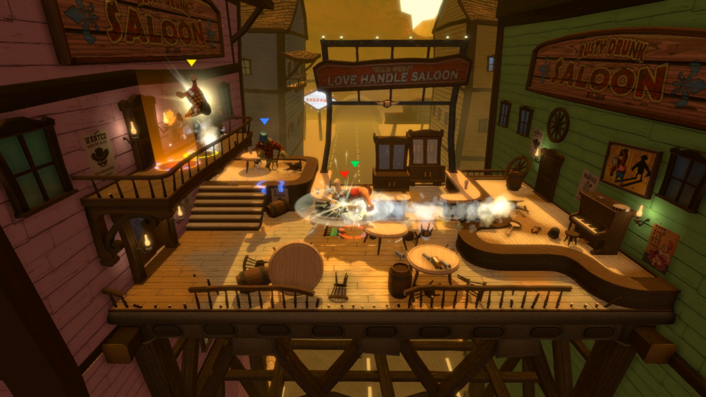 Screenshot from the Saloon level