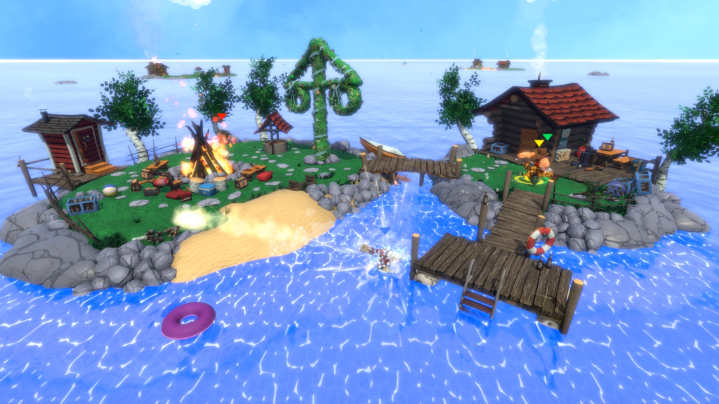 Screenshot from the Midsummer level