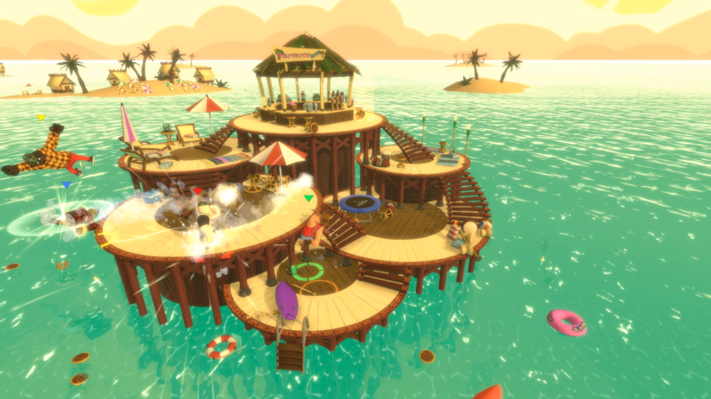 Screenshot from the Beach Bar level